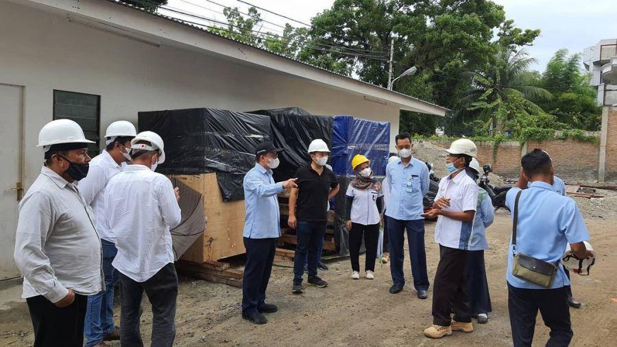Supply Air Bersih, Dirtek Perumda AM Kota Padang Tinjau Langsung Kesiapan Reservoar Santika Hotel