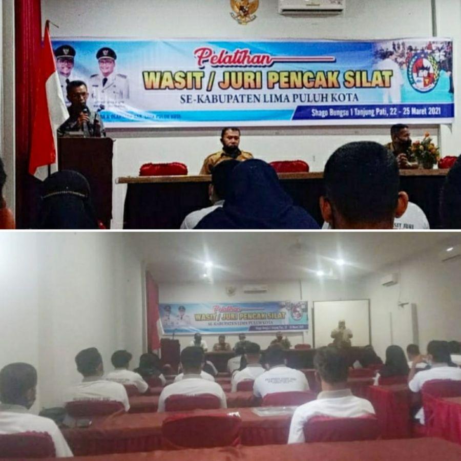 Disparpora Kabupaten Limapuluh Kota Gelar Pelatihan Wasit Juri Pencak Silat