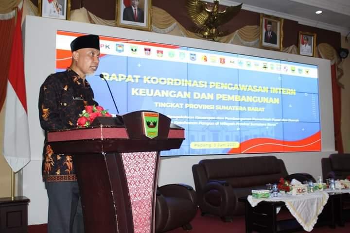 Gubernur Sumbar: Pengelolaan Keuangan Daerah Yang Benar Butuh Pengawasan oleh BPKP, KPK dan APIP