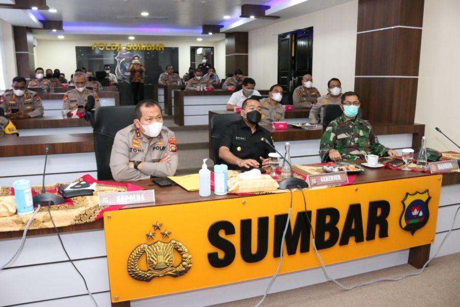 Kapolda, Wagub Sumbar dan Danrem Hadiri Launching Hotline Polisi 110, Mudahkan Pelayanan Masyarakat