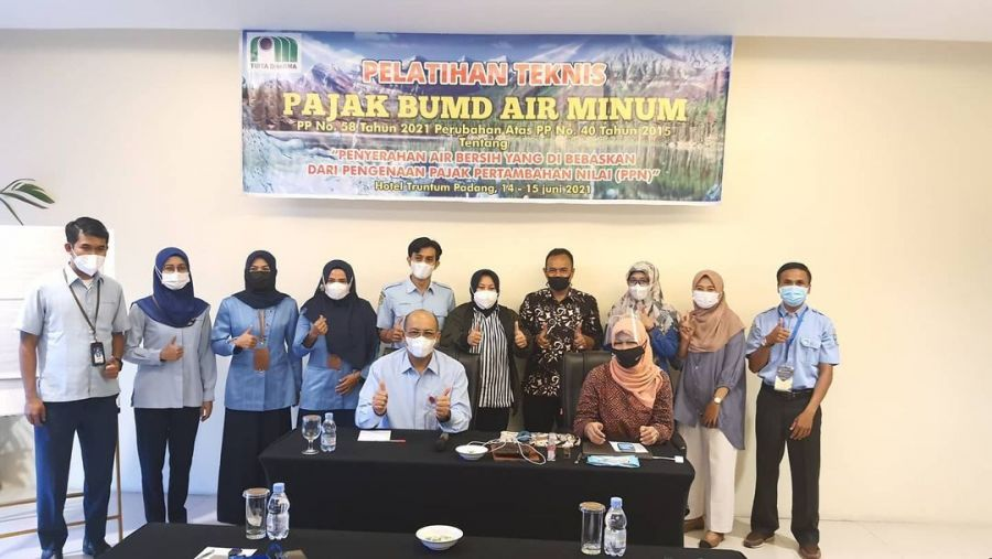 Ketua PD Perpamsi Sumbar Buka Pelatihan Teknis Pajak BUMD Air Minum