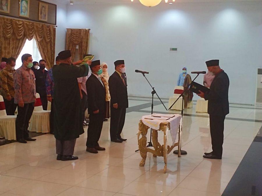 Pergeseran Jabatan, Gubernur Mahyeldi Lantik Dua Pejabat Pimpinan Tinggi Pratama