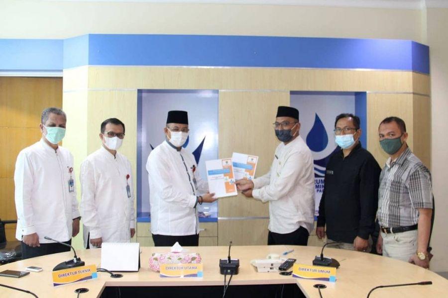 Perumda AM Kota Padang Jalin Kerjasama Penggunaan Kawasan Hutan Dengan UPTD KPHL Bukit Barisan