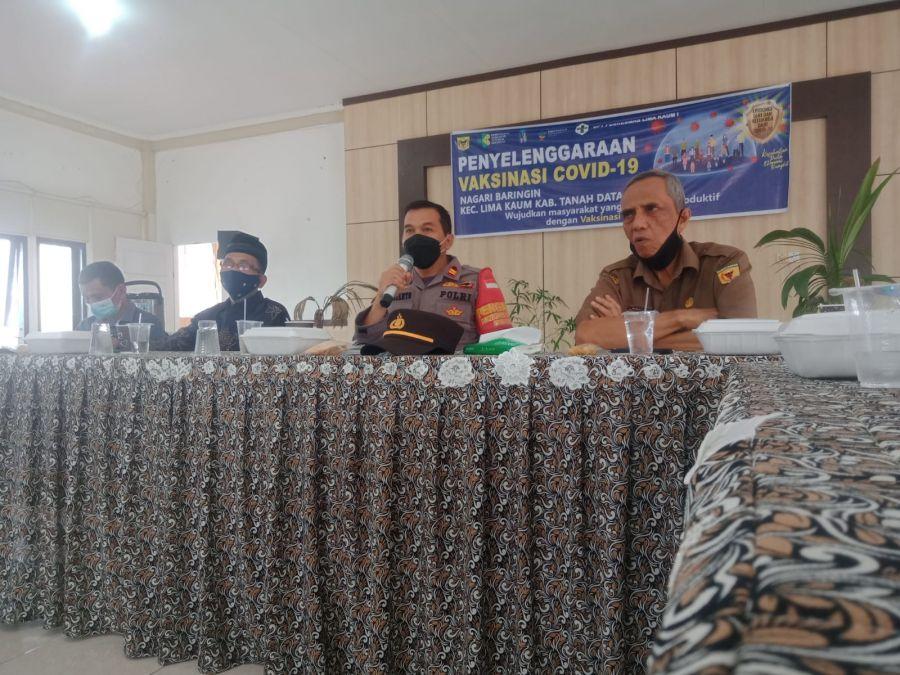 Resmi Menjabat, Kapolsek Lima Kaum Bersilaturahmi dengan Pemerintah Nagari Baringin