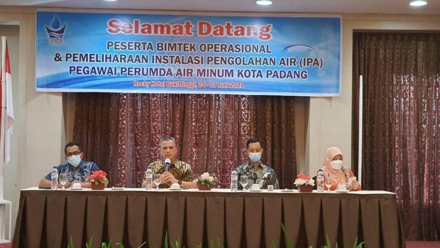 Perumda AM Kota Padang Gelar Bimtek Operasional dan Pemeliharaan IPA