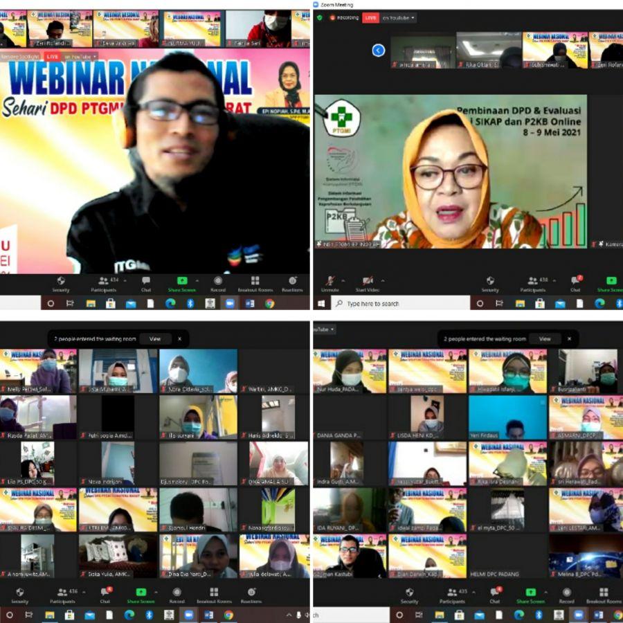 Tingkatkan Wawasan Anggota di Masa AKB, PTGMI Sumbar Gelar Webinar Nasional