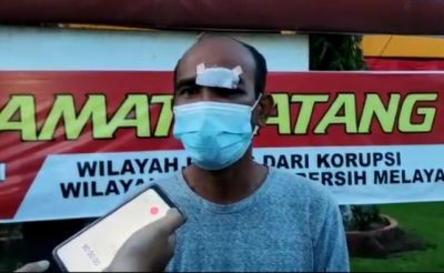 Datangi Polresta Padang, Pria yang Viral dengan Muka Berdarah di Pos PPKM Darurat Minta Maaf