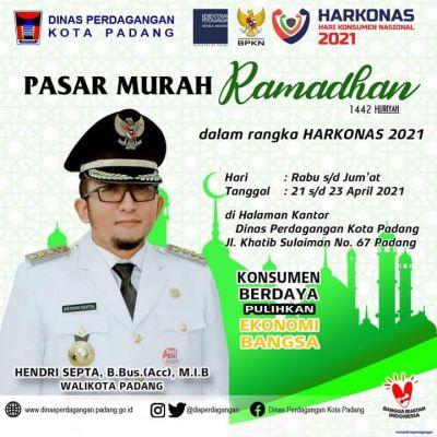 Dinas Perdagangan Padang Gelar Pasar Murah Ramadhan 21-23 April 2021