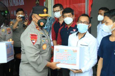Gandeng Beberapa Komunitas, Polda Sumbar Gelar Vaksinasi Presisi di SPR Padang