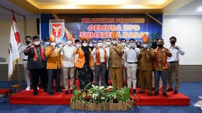 Gubernur Hadiri Pelantikan Pengurus Gerakan Muda Nurani Rakyat (GEMURA) DPD Sumatera Barat