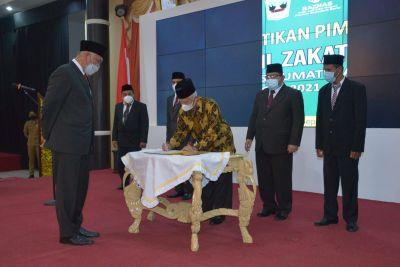Gubernur Lantik Pengurus Baznas Sumbar Periode 2021-2026