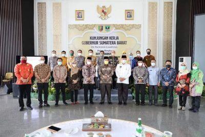 Gubernur Mahyeldi Kunker ke Lampung, Ingin Majukan Potensi Perikanan Udang Sumbar