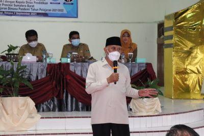 Gubernur Sumbar: Kualitas Sekolah di Kota dan Kabupaten Harus Sama