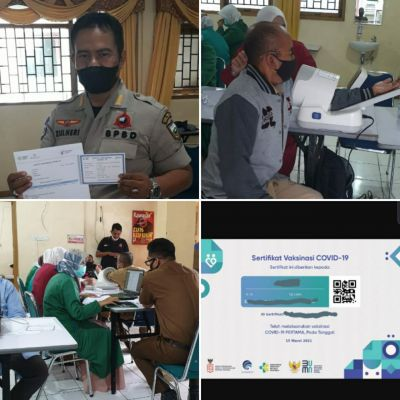 Jajaran BPBD Padang Panjang Ikuti Vaksinasi Covid-19