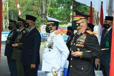 Kapolda Sumbar Hadiri Upacara Peringatan HUT ke-76 TNI