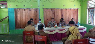 Kapolres Sijunjung ajak Pemerintahan Kecamatan Lubuk Tarok Bersinergi Dukung Program Vaksinasi