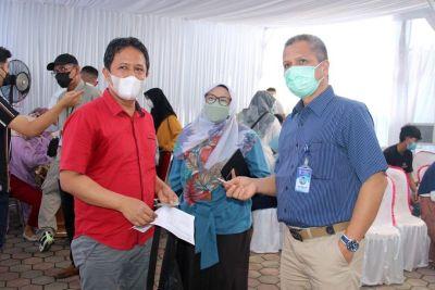 Keluarga Besar Perumda Air Minum Padang Sukses Gelar Vaksinasi Covid-19 Ke 2