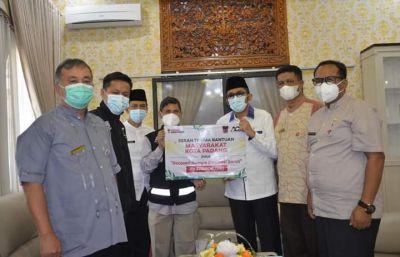 Pemko dan Warga Padang Salurkan Donasi Bangun Masjid di Sulbar