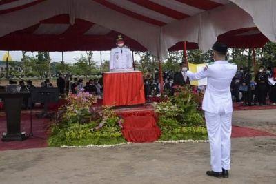 Perdana, Upacara Peringatan HUT RI ke-76 di Kompleks Perkantoran Balaikota Aie Pacah