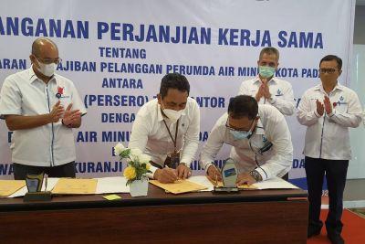 Permudah Pelayanan Kepada Pelangggan, Perumda AM Kota Padang Jalin Kerjasama dengan BRI