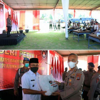 Polisi Peduli, Alumni Akpol angkatan 94 gelar Pembagian Bansos dan Vaksinasi Gratis