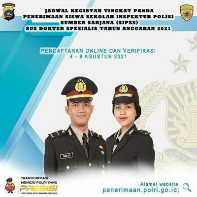 Polri Buka Penerimaan Untuk Siswa Sekolah Inspektur Polisi Sumber Sarjana Sus Dokter