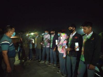 Rayakan Kelulusan Dengan Corat-Coret dan Keluyuran Malam, Sejumlah Siswa SMK di Tertibkan Petugas