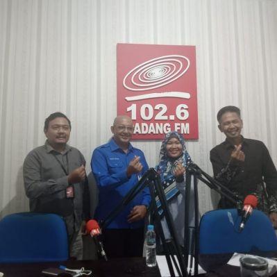 Talkshow Dinamika Publik Bersama Dirut Perumda Air Minum  di Padang FM 102,6