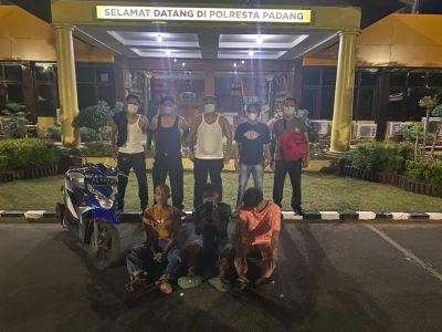 Tim Klewang Polresta Padang Ringkus 3 Pria Diduga Pelaku Pencurian Dengan Kekerasan