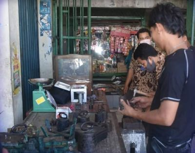 Timbangan Pedagang Pasar Alai Ditera Ulang