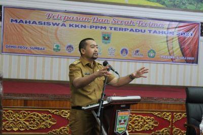 Wagub Audy Joinaldy: Mahasiswa KKN Harus Jadi Agen of Change