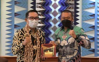 Wagub Sumbar Audy Joinaldy Kunjungi Ridwan Kamil, Pelajari Keberhasilan Merit Sistem di Jabar