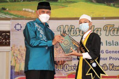 Wisuda Tahfiz SD Islam Ar Risalah, Gubernur Mahyeldi: Sekolah Swasta Miliki Keunggulan dari Negeri